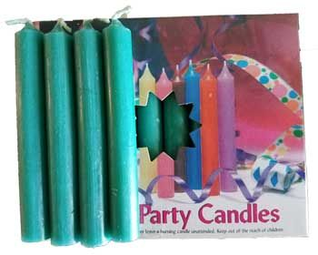 """1/2""""Dark Green Chime Candle 20 Pack"""