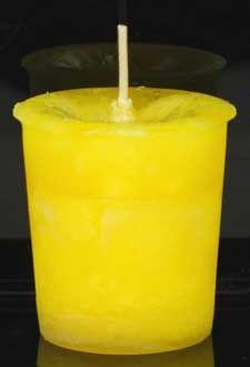 Positive Energy Herbal Votive - Yellow
