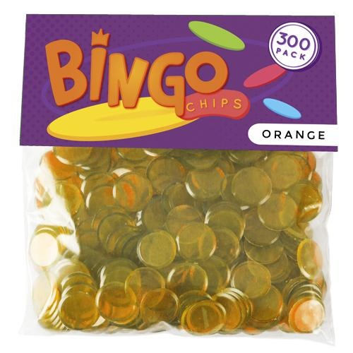 300 Pack Orange Bingo Chips