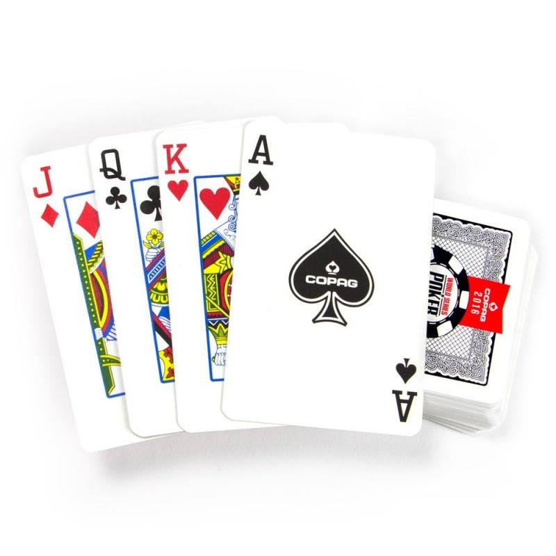 Copag Lace 2016 Wsop Plastic Cards - Red/black - Bridge