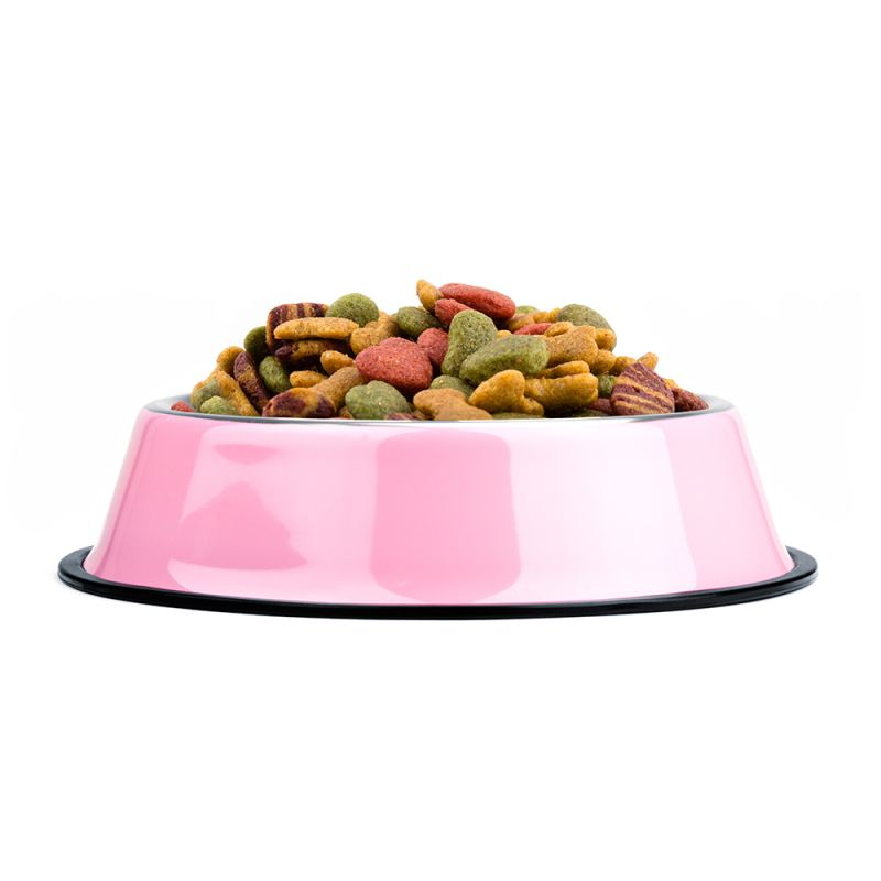 8oz. Pink Stainless Steel Dog Bowl