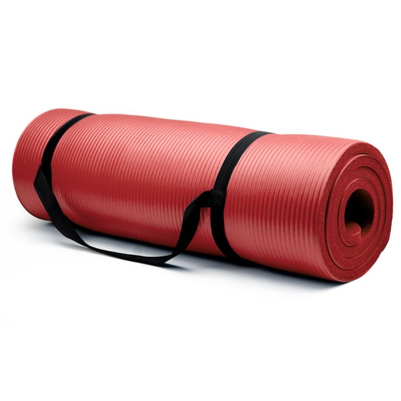 Extra Thick (3/4In) Yoga Mat - Red