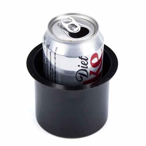 Vivid Black Aluminum Cup Holder