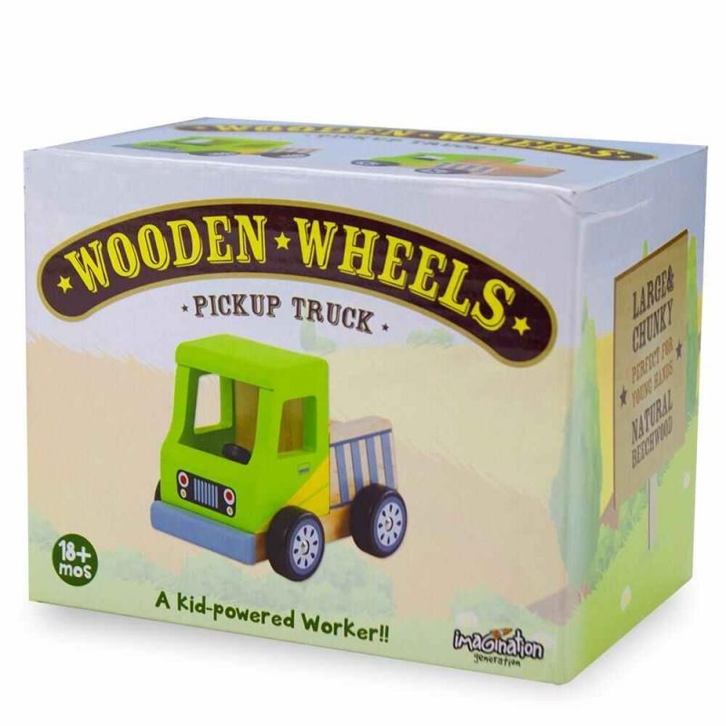 Wooden Wheels Pickup Truck