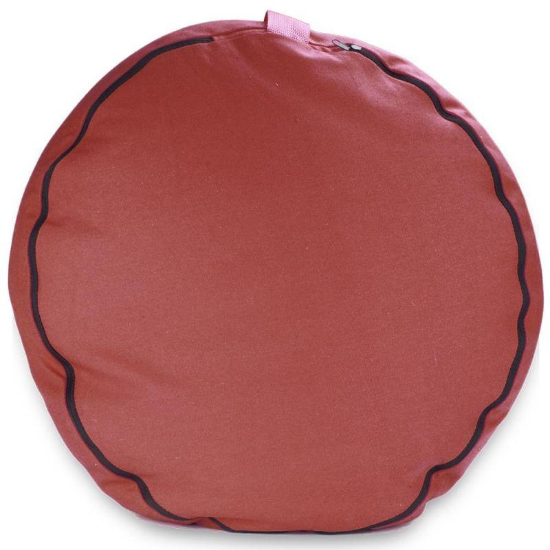 "Red 18"" Round Zafu Meditation Cushion"