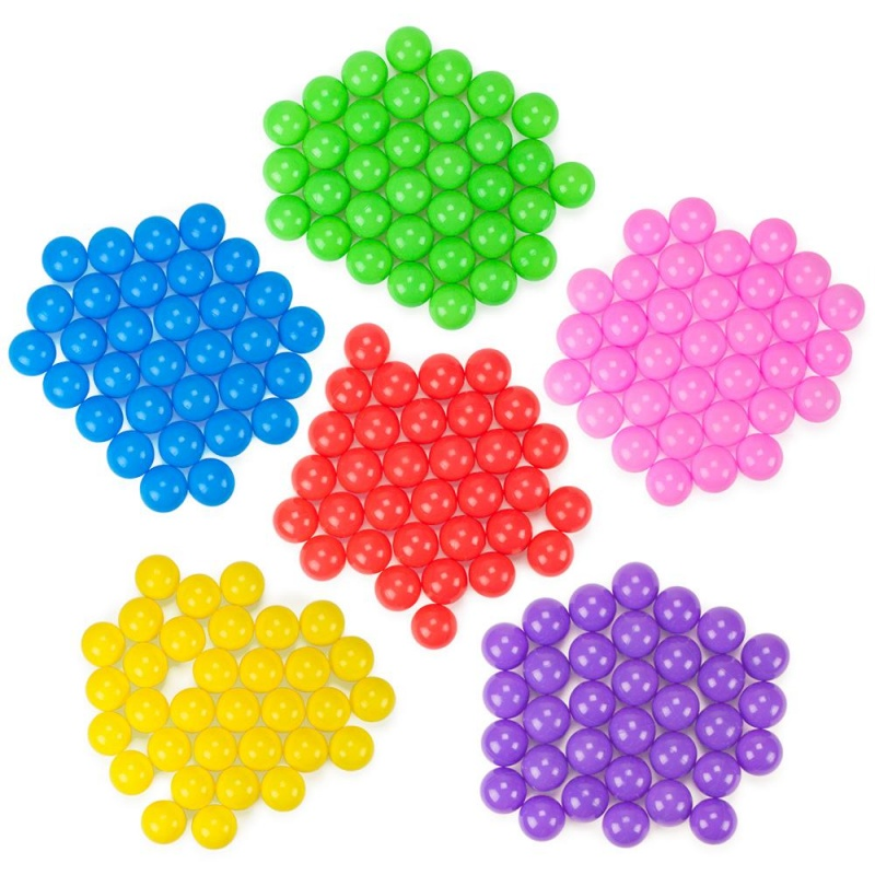200 Pack Multi-Color Plastic Soft Air-Filled Pit Ball