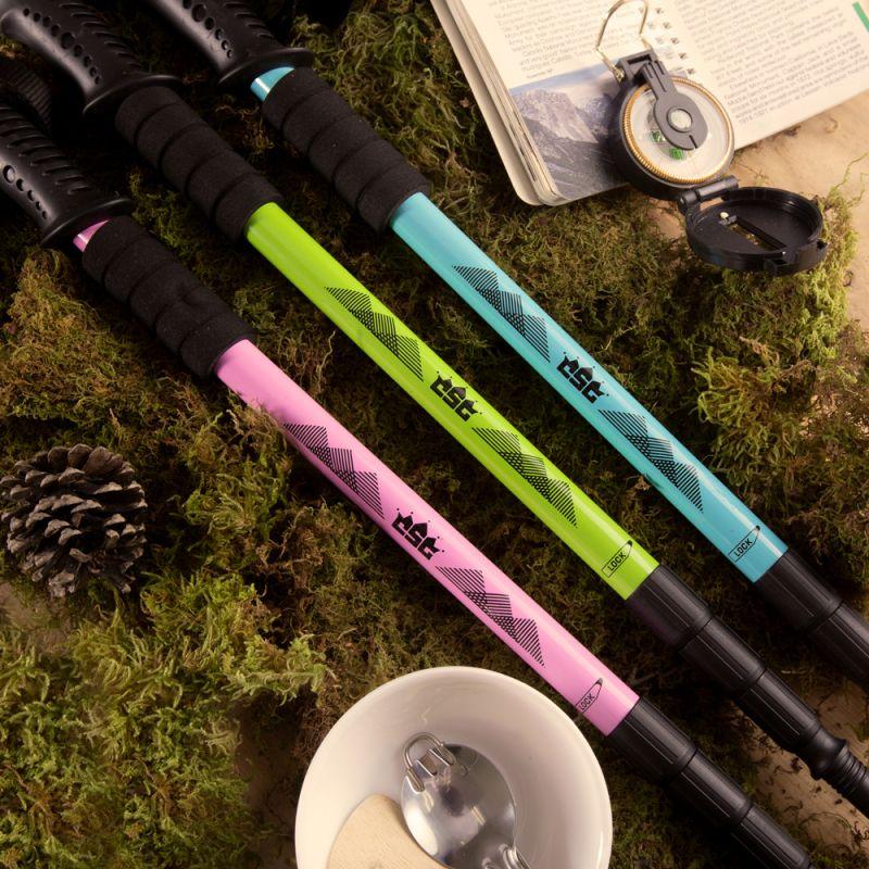 "53"" Pink Shock-Resistant Adjustable Trekking Pole"