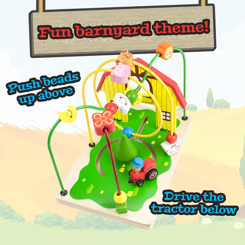 Busy Barnyard Bead Maze