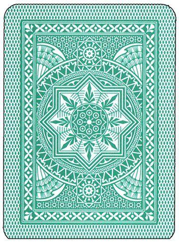 Modiano Cristallo Poker Size, 4 Pip Jumbo Dark Green