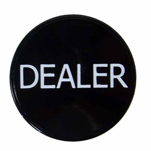 Black Plastic Dealer Button