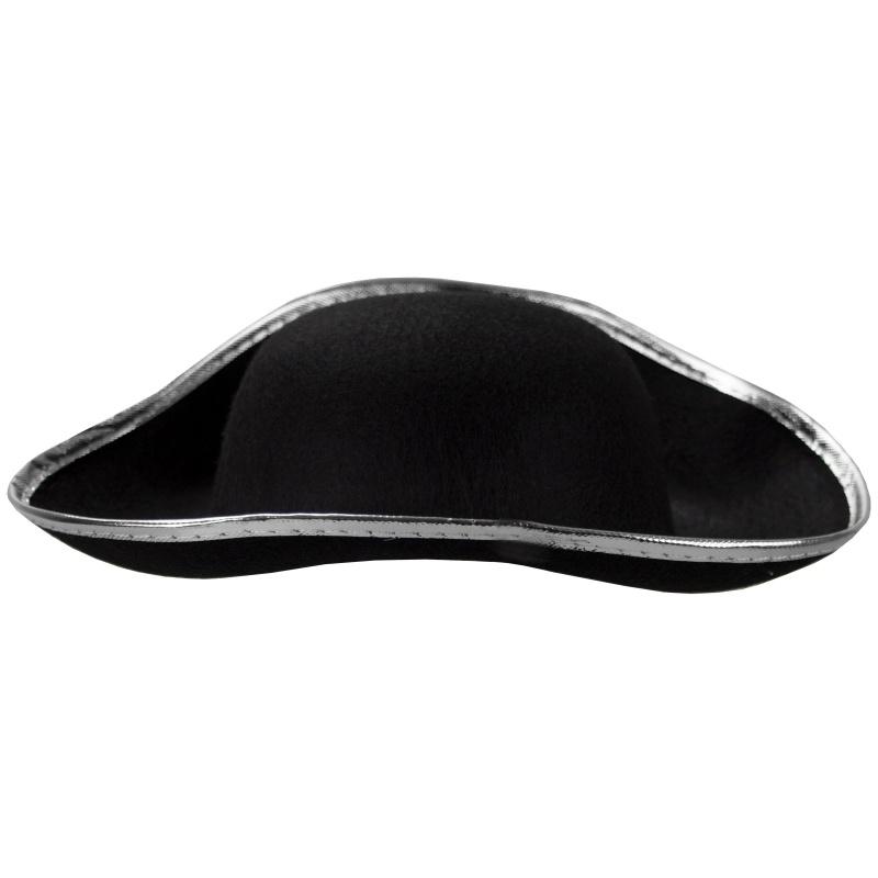 Hard Shell Tricorne Pirate Hat
