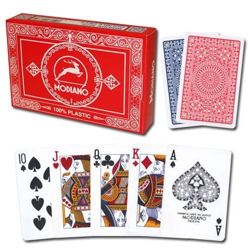 Modiano Club Poker Red/Blue Regular