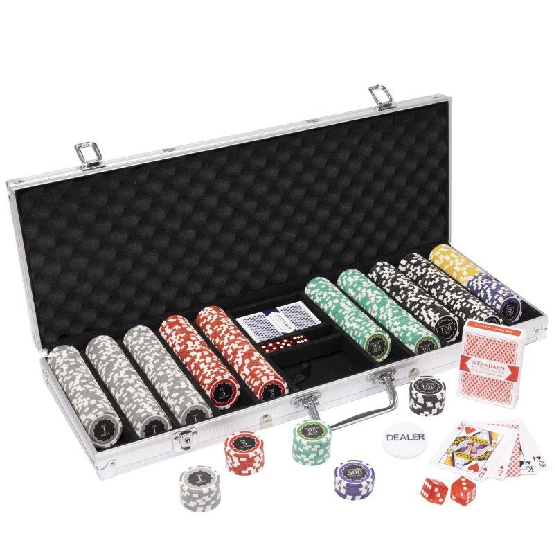 500 Ct Eclipse Poker Chip Set W/ Aluminum Case 14 Gram Chips