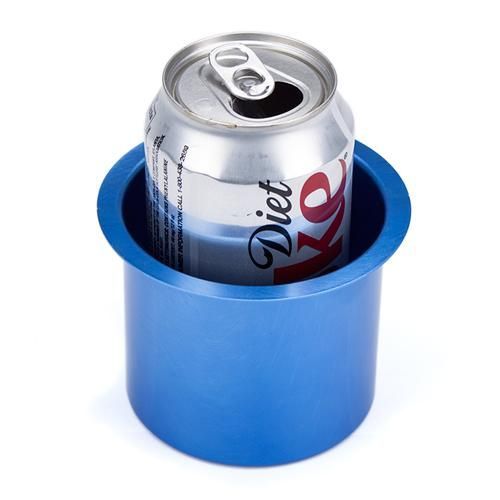 Vivid Blue Aluminum Cup Holder