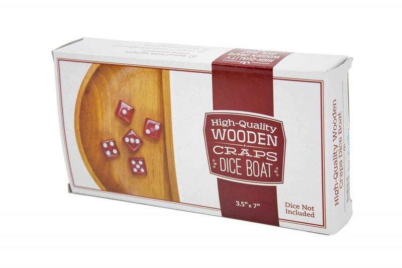 Wooden Craps Dice Boat