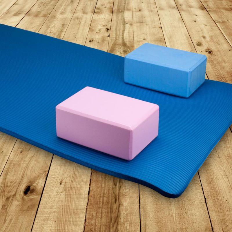 Large High Density Pink Foam Yoga Block 9 X 6 X 4