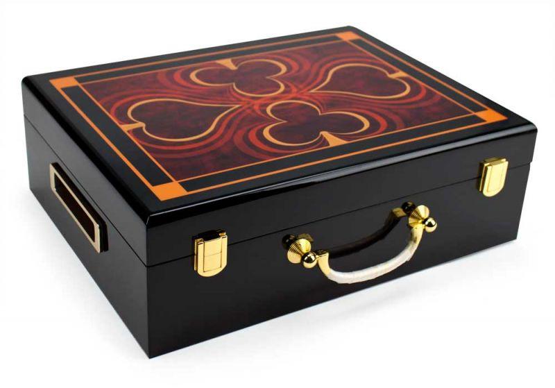 500 Ct Hi-gloss Wooden Case