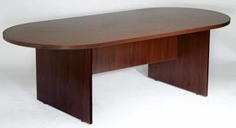 Boss 95w X 43d Race Track Conference Table, Mahogany