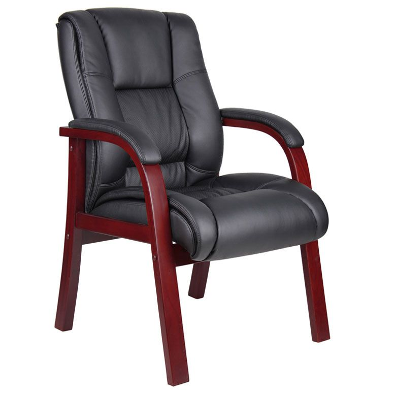 Boss Mid Back Wood Finished Guest, Accent Or Dining Chair