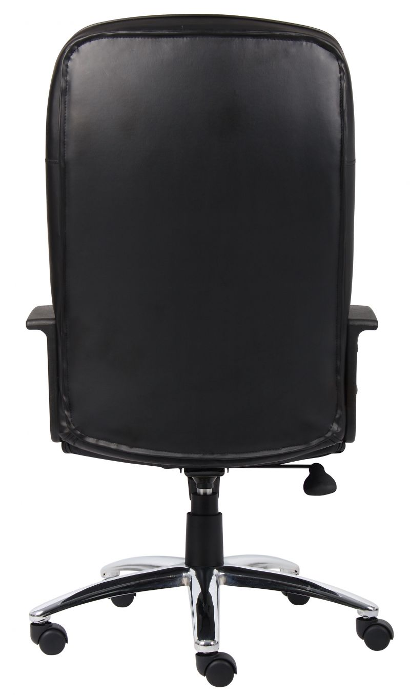 Boss High Back Leatherplus Chair W/ Chrome Base