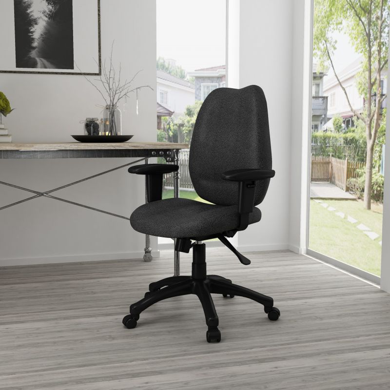 Boss High-back Task Chair With Adjustable Arms, Black