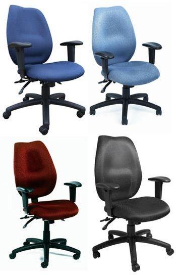 Boss Black High Back Task Chair W/ Seat Slider