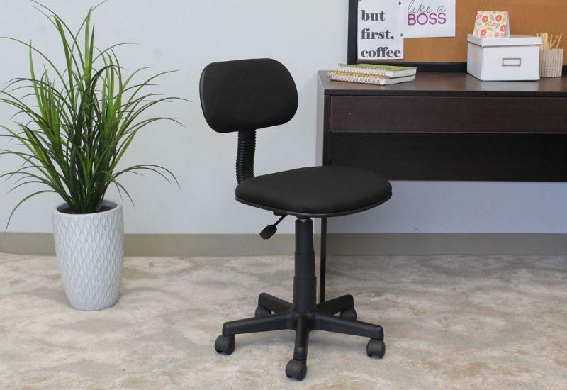 Boss Black Fabric Steno Chair