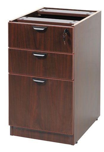Boss Deluxe Pedestal-full, Box/box/file, 15.5w*22d, Mahogany