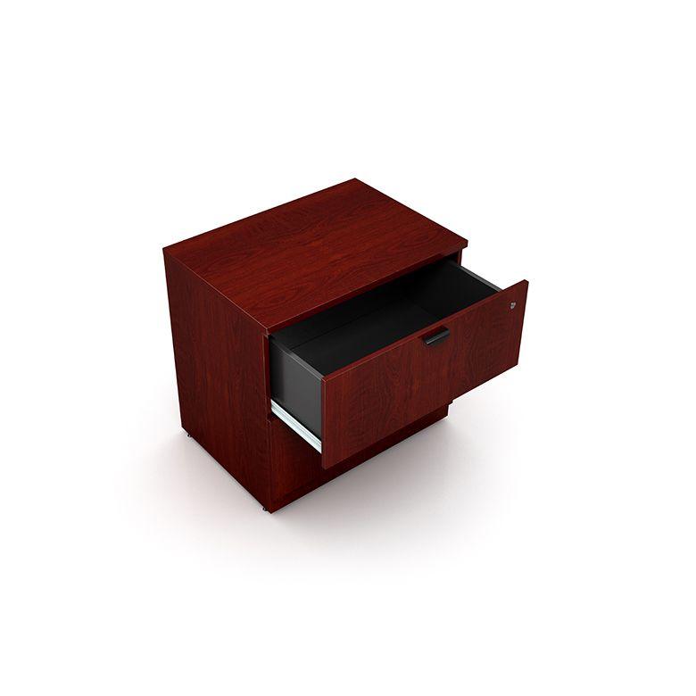 Boss 2-Drawer Lateral File, Mahogany