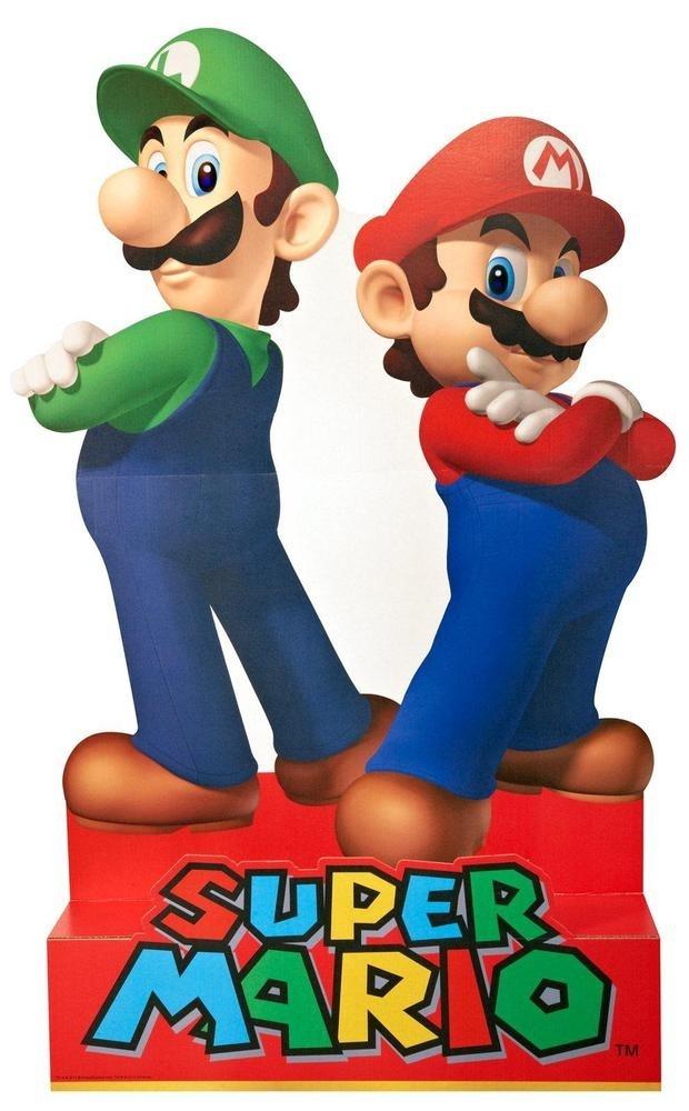 Advanced Graphics Super Mario Party - Mario & Luigi Standup - 5' Tall