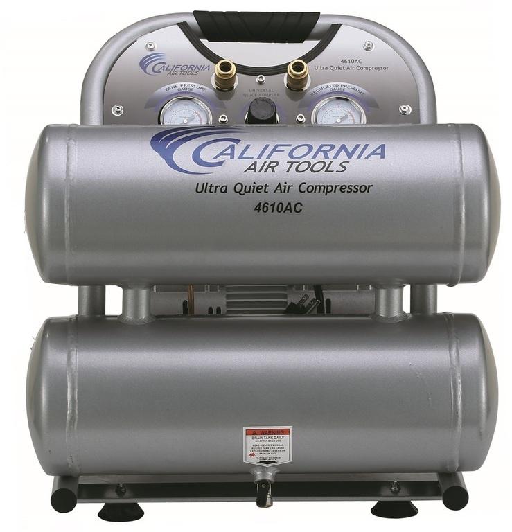 CAT 4610AC Air Compressor: 1.0 HP, 4.6 Gal. Aluminum Tank, Ultra Quiet, Oil-Free, Lightweight