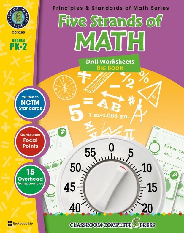 Classroom Complete Regular Edition Book: Five Strands of Math - Drills Big Book, Grades PK, K, 1, 2