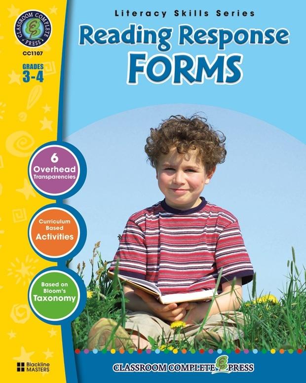Classroom Complete Regular Education Book: Reading Response Forms, Grades - 3, 4