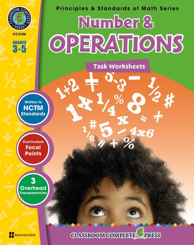 Classroom Complete Regular Edition Book: Number & Operations - Task Sheets, Grades 3, 4, 5
