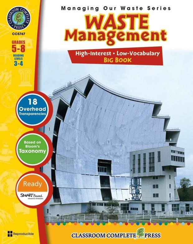 Classroom Complete Regular Education Book: Waste Management - Big Book, Grades - 5, 6, 7, 8