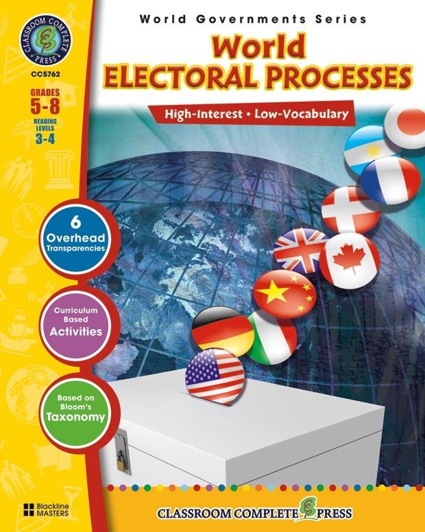 Classroom Complete Regular Education Social Studies Book: World Electoral Processes, Grades - 5, 6, 7, 8