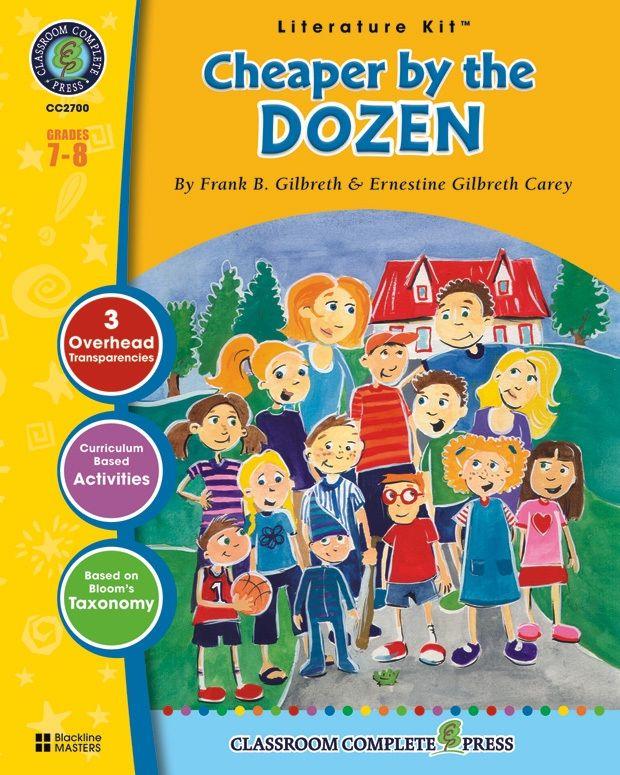 Classroom Complete Regular Education Literature Kit: Cheaper by the Dozen, Grades - 7, 8