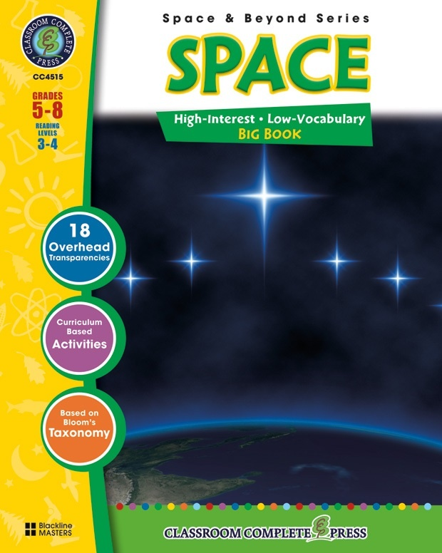 Classroom Complete Regular Education Science Book: Space - Big Book, Grades - 5, 6, 7, 8