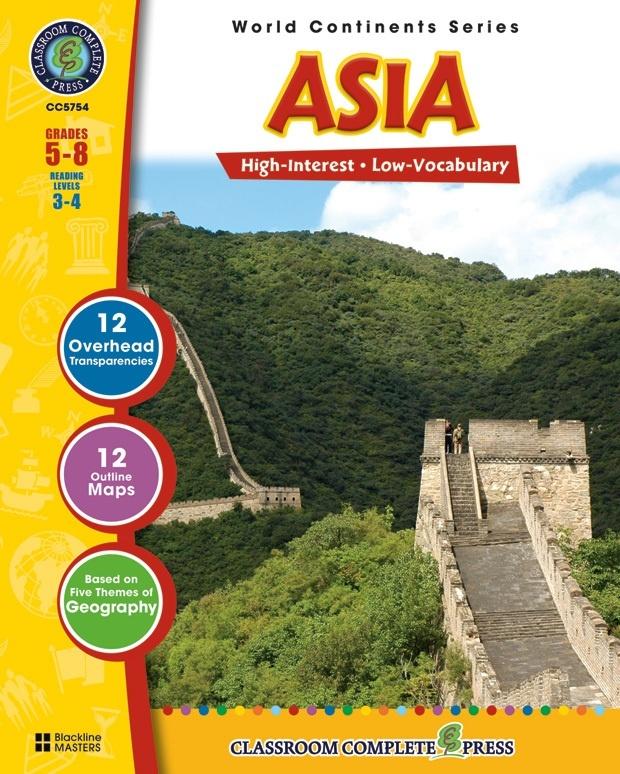 Classroom Complete Regular Education Social Studies Book: Asia, Grades - 5, 6, 7, 8