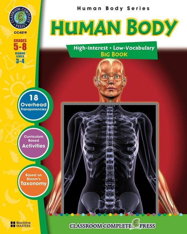 Classroom Complete Regular Education Science Book: Human Body Big Book, Grades - 5, 6, 7, 8