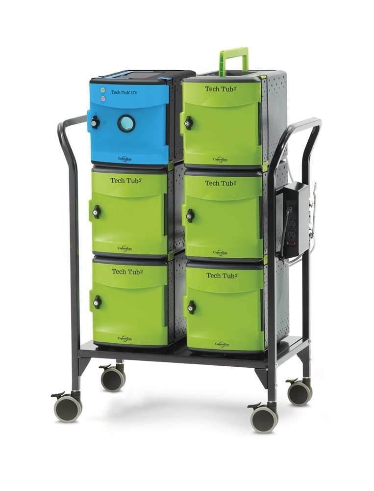 Copernicus Tech Tub2 Modular Cart With UV Tub – USB Charges And Syncs 26 IPads