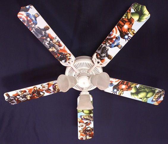 """New Kids Avengers Marvel Captain America Ceiling Fan 52"""""""