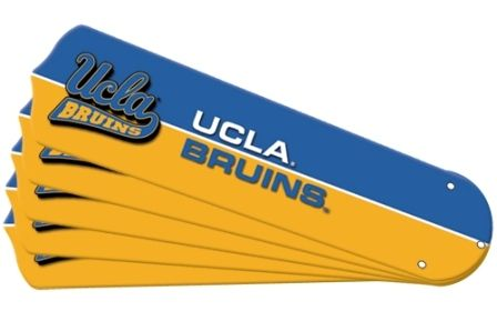 "New Ncaa Ucla Bruins 42"" Ceiling Fan Blade Set"