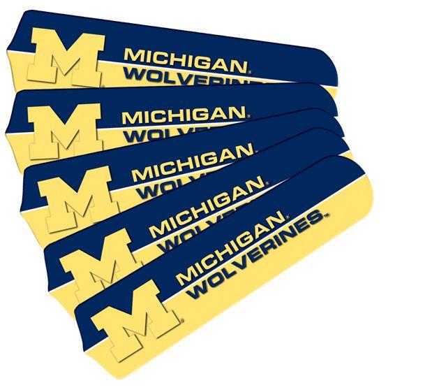 "New Ncaa Michigan Wolverines 42"" Ceiling Fan"