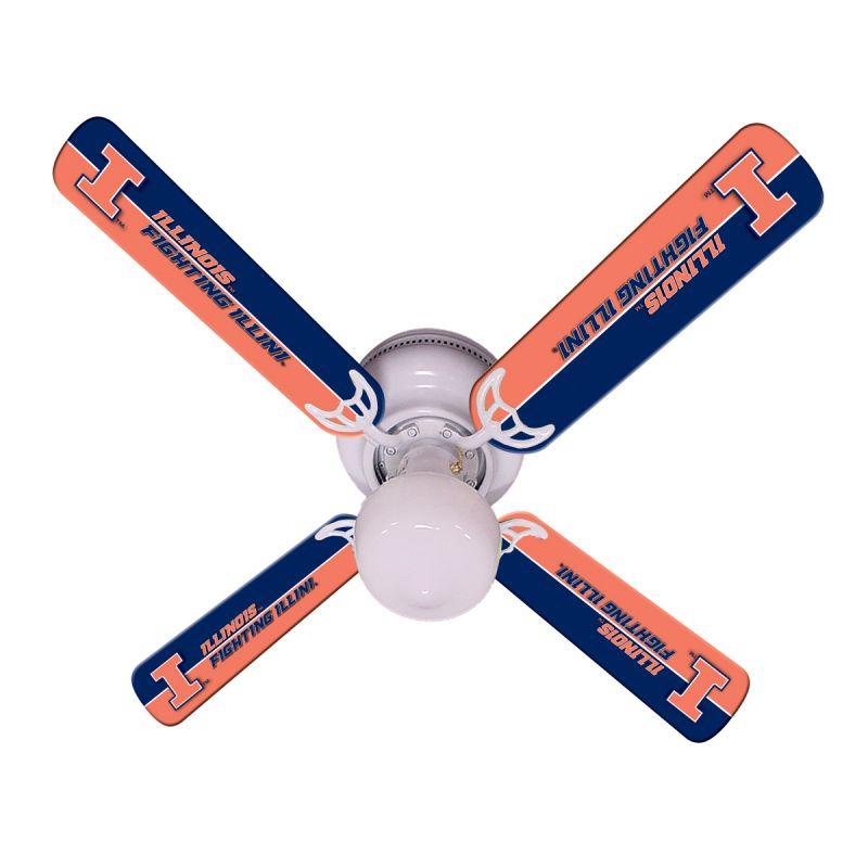 """New Ncaa Illinois Fighting Illini 42"""" Ceiling Fan"""