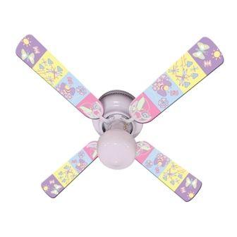 Ceiling Fan Designers Baby Nursery Happy Wings Fan/Blades