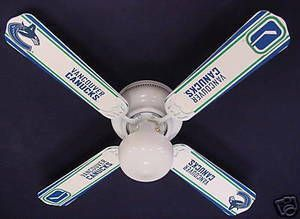 """New Nhl Vancouver Canucks Hockey Ceiling Fan 42"""""""