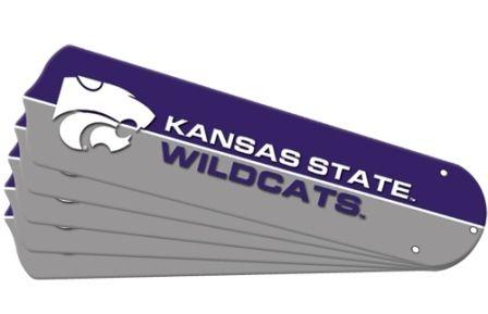 """New Ncaa Kansas State Wildcats 42"""" Ceiling Fan Blade Set"""