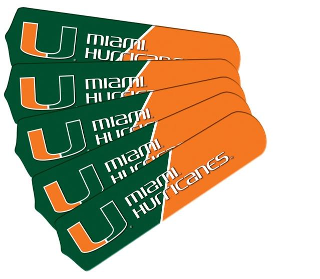 "New Ncaa Miami Hurricanes 42"" Ceiling Fan"