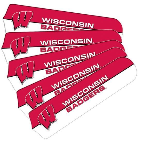 """New Ncaa Wisconsin Badgers 42"""" Ceiling Fan Blade Set"""